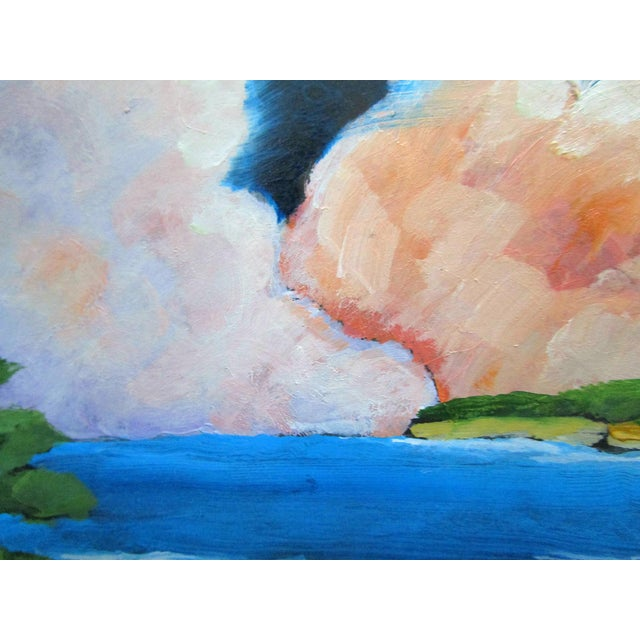 Paint Carmel California Monterey Bay Clouds Landscape Oil Painting Lynne French Art For Sale - Image 7 of 7