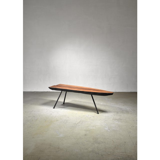 Mid-Century Modern Carl Aubock Tree Trunk Coffee Table, Austria, 1950s For Sale - Image 3 of 4