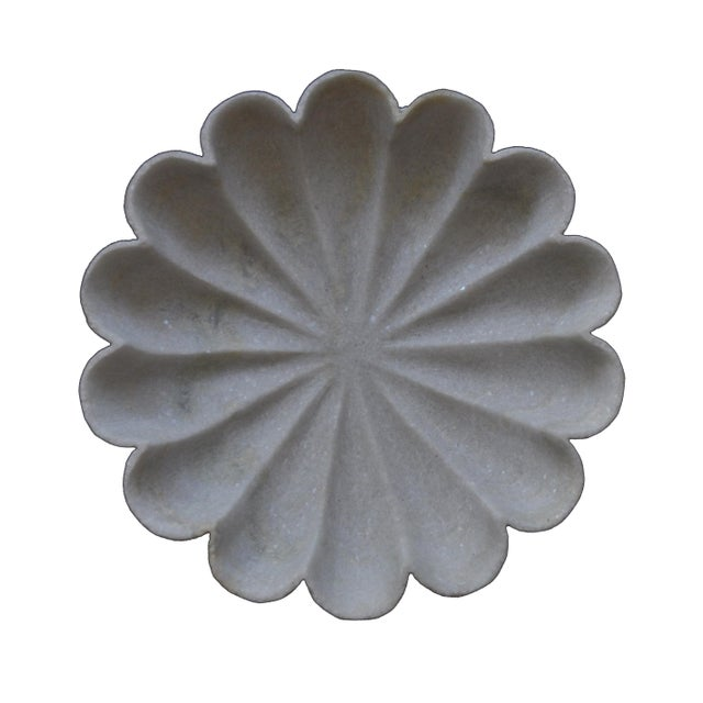 """Marble Flower 12"""" Bowl For Sale In New York - Image 6 of 6"""