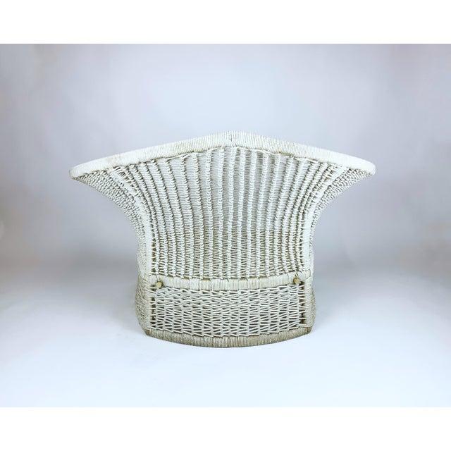 Harry Bertoia Vintage Rope Bird Lounge Coastal Chair Aft Bertoia For Sale - Image 4 of 13