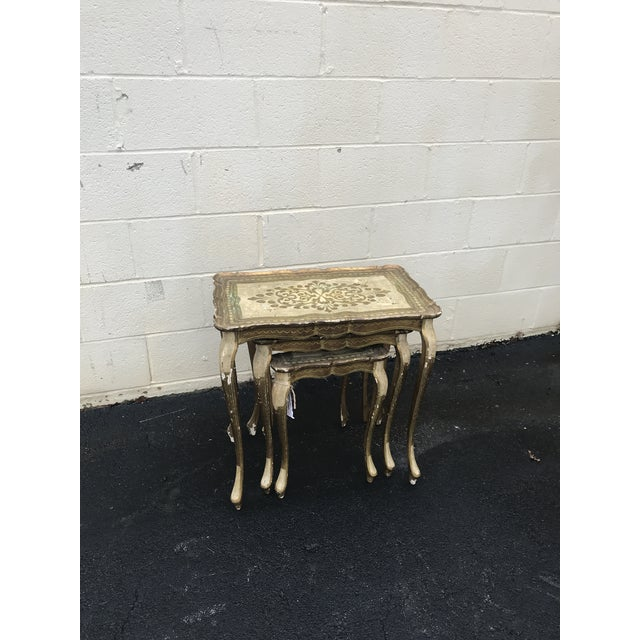 Gold Guilded Nesting Tables - Made in Italy - Image 9 of 10