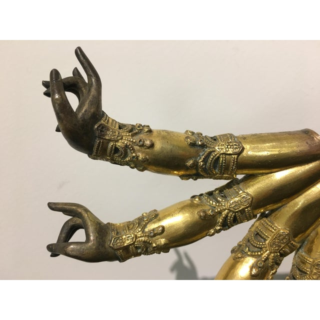 15th Century & Earlier Tibetan Gilt Bronze Arms of a Bodhisattva For Sale - Image 5 of 8