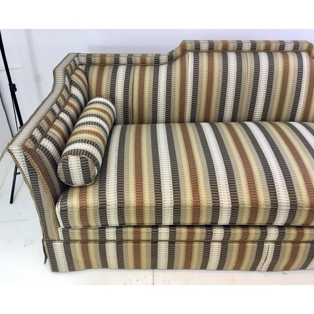 Marvelous Traditional Hickory White Earth Tone Striped Sofa Machost Co Dining Chair Design Ideas Machostcouk