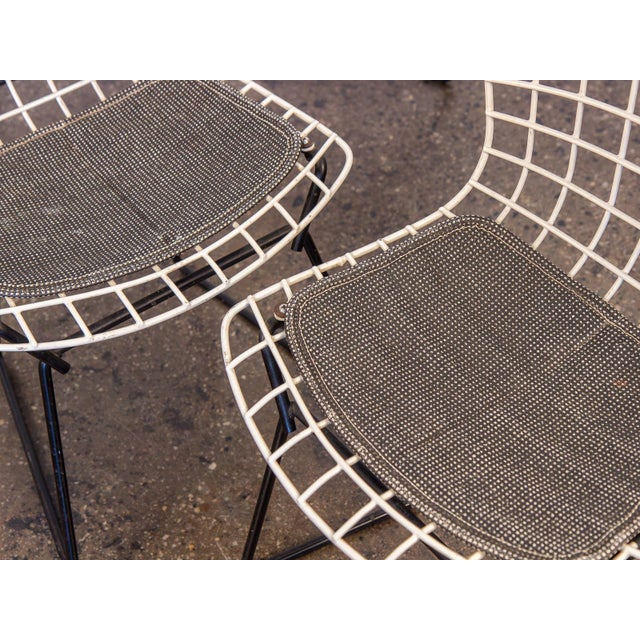 Black Baby Bertoia Chairs - a pair For Sale - Image 8 of 9