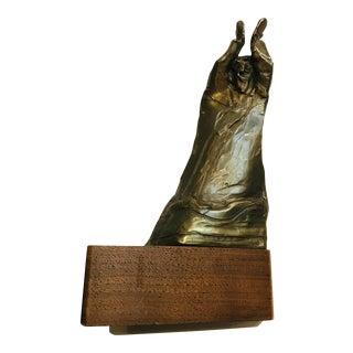 Mildred Kouzel Original Signed Modern Abstract Expressionist Standing Man Bronze Sculpture For Sale