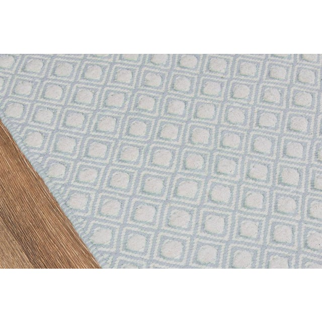 2010s Erin Gates by Momeni Langdon Windsor Blue Hand Woven Wool Area Rug - 5' X 8' For Sale - Image 5 of 6