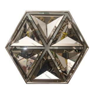 Wall Mirror Polygon Form With Bronze Coloration For Sale