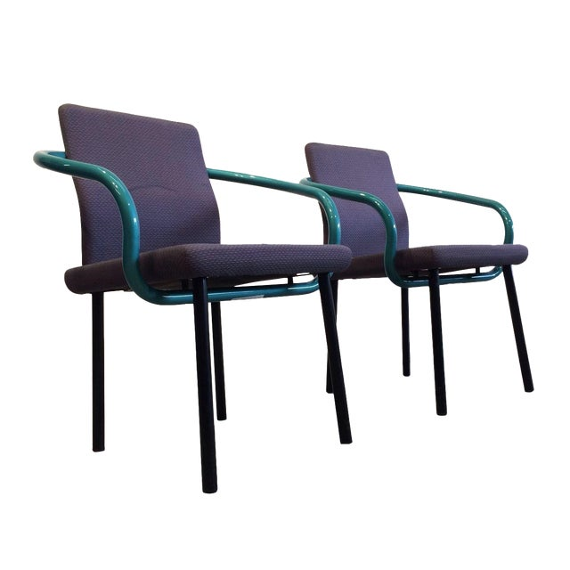 Ettore Sottsass Mandarin Chairs for Knoll - A Pair For Sale