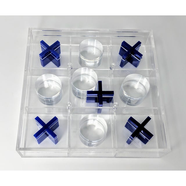 Hollywood Regency Lucite Tic-Tac-Toe Game Board For Sale - Image 3 of 13