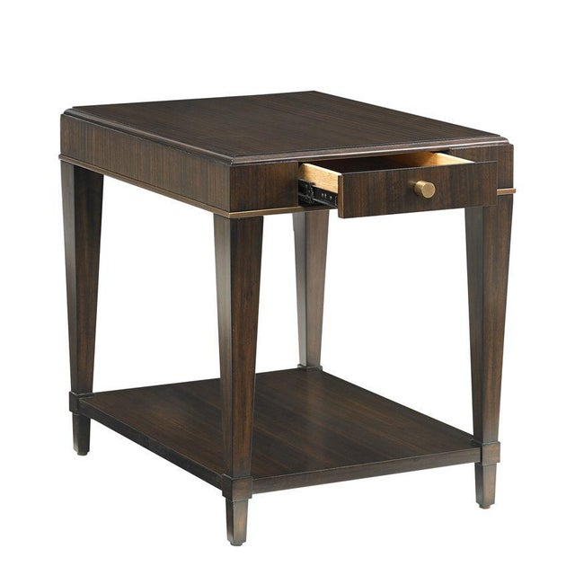 """The Capetown Drawer End Table This end table provides a very clean """"new traditional"""" feel featuring rubberwood solids..."""
