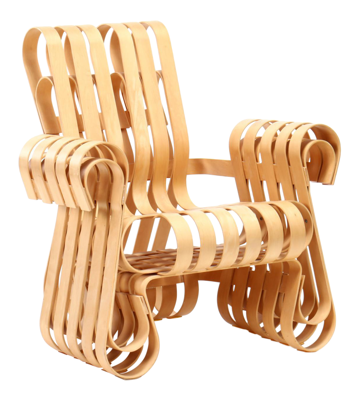 Gentil 1990s Vintage Frank Gehry For Knoll International Power Play Chair |  Chairish