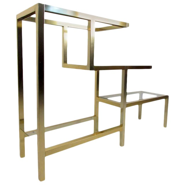 Mid-Century Baughman Style Four-Tier Display Unit For Sale