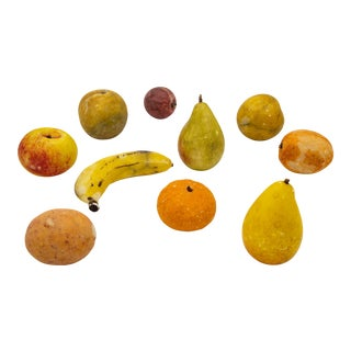 Vintage Assorted Stone Fruit Objects- 10 Pieces For Sale