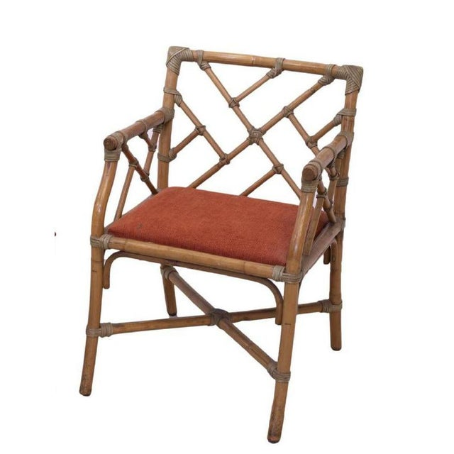 Chippendale 1960s Vintage Bamboo Chippendale Armchair For Sale - Image 3 of 3