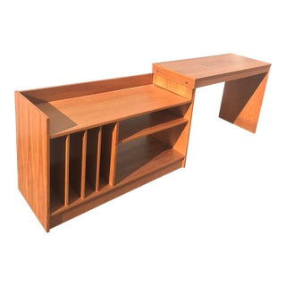 1950s Danish Modern Teak Record Console For Sale