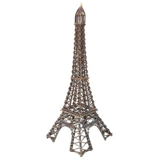 Folk Art Handmade Eiffel Tower Willow Sculpture For Sale