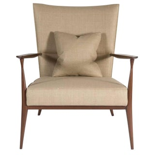 Customizable North Curved Back Armchair For Sale