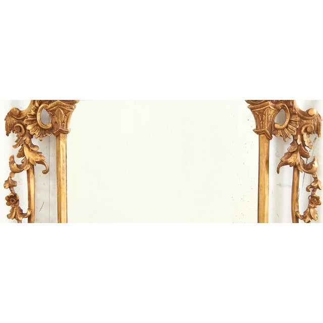 Pair of Chinese Chippendale Style Pagoda Mirrors With Ho Ho Birds For Sale In Sacramento - Image 6 of 13
