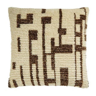 """Piper Collection Cream Geometric """"Austin"""" Pillow For Sale"""