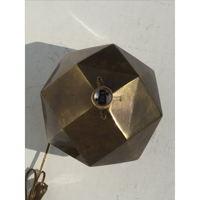 Bronzed Geometrical Lamp by Westwood - Image 8 of 9