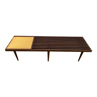 Mid-Century Modern Slat Bench or Coffee Table