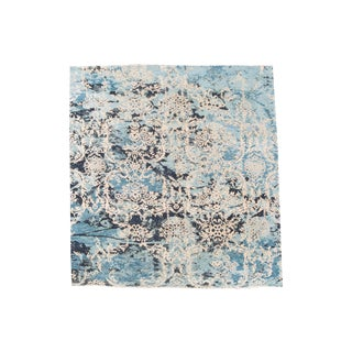Transitional Blue and White Contemporary Rug 8'x10' For Sale