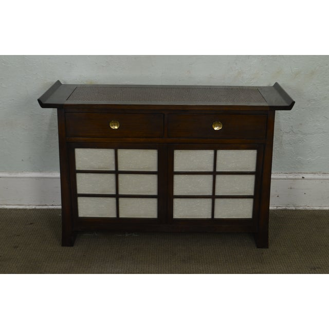 1980s Bernhardt Flair Division Asian Inspired Console Server Cabinet For Sale - Image 5 of 13
