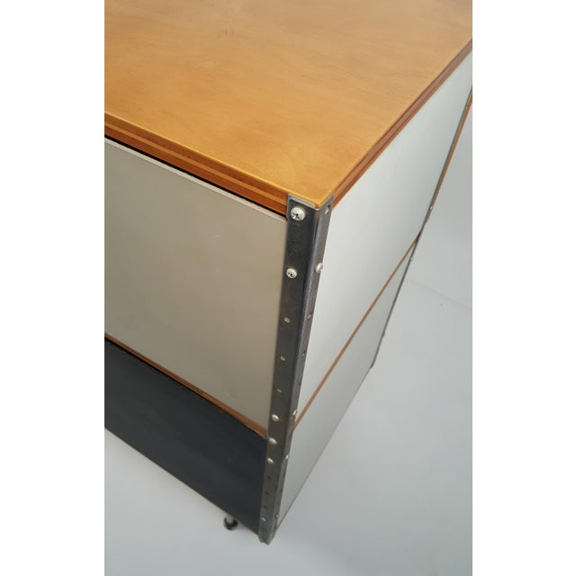 Early ESU 200 Storage Unit by Charles & Ray Eames for Herman MIller For Sale - Image 10 of 11