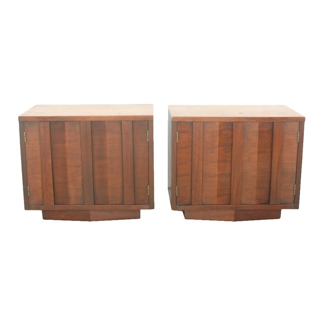 "Lane Brutalist ""Prism"" Nightstands - Set of 2 For Sale"