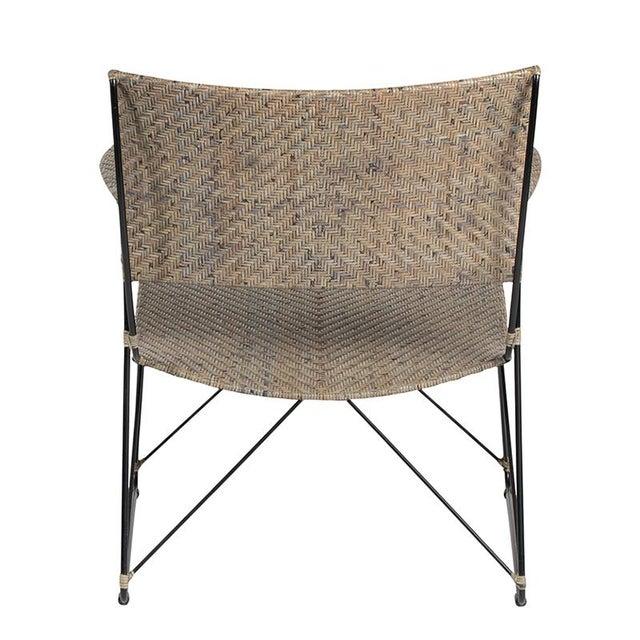 David Francis David Francis Indoor Seto Lounge Chair - Gray For Sale - Image 4 of 6