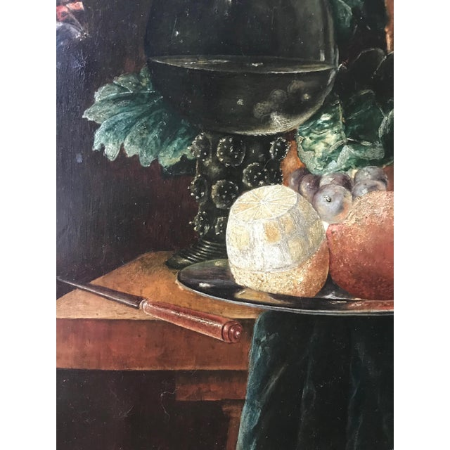 19th Century Still Life Painting After Pieter Claesz, Framed For Sale - Image 4 of 9