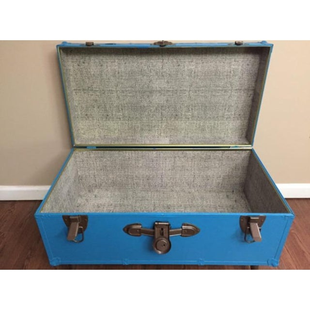 Blue Steamer Trunk Table - Image 6 of 6