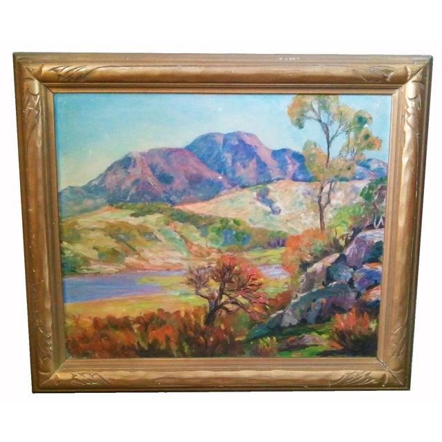 Vintage Impressionist Landscape For Sale