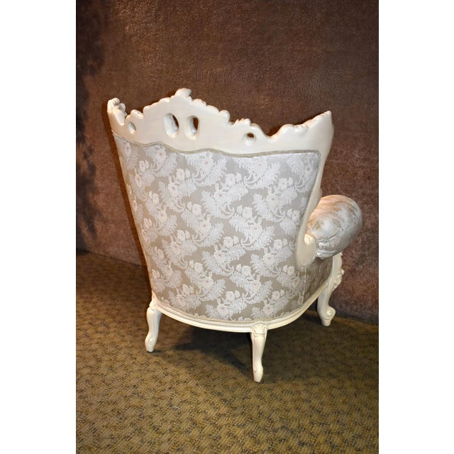 1980s Vintage Ornate Renaissance Style Sitting Chair For Sale - Image 11 of 13