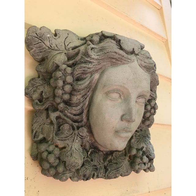 Antique Goddess of Wine Stone Plaque For Sale - Image 4 of 5