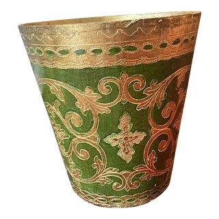 Florentine Wastebasket For Sale