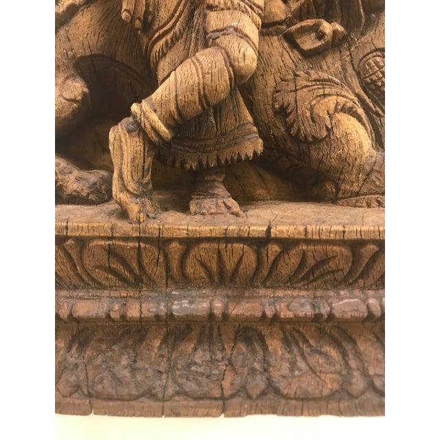 Carved Wooden Icon of Vishnu Goddess For Sale - Image 11 of 12