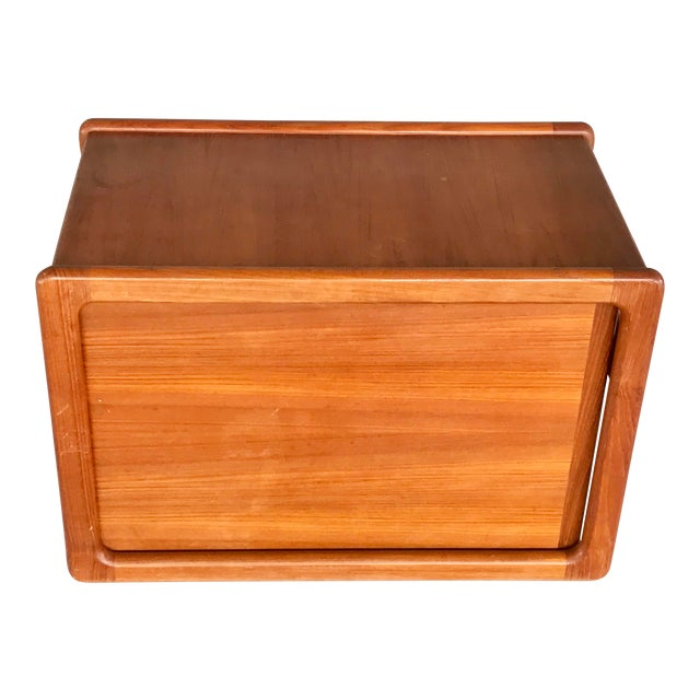 Danish Modern Wood File Cart For Sale
