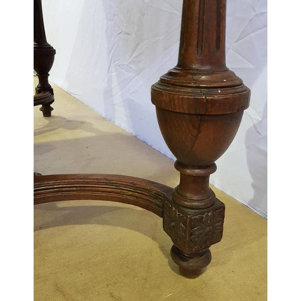 Rectangular Carved Antique French Jacobean Style Oak Dining Table For Sale - Image 10 of 12