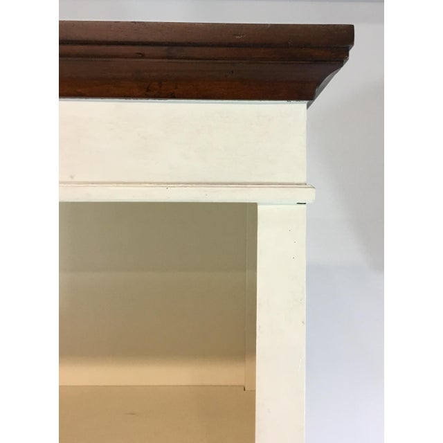 Transitional Tall Two Door White Textured Wood Cabinet/Bookcase For Sale In Atlanta - Image 6 of 7