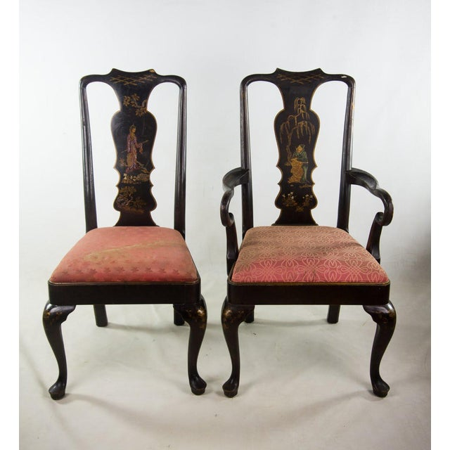 Chinoiserie Queen Anne Chairs - A Pair For Sale - Image 11 of 11