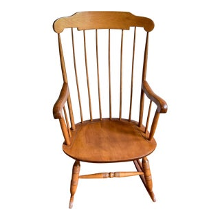 1960s Vintage Nichols & Stone Co. Boston Style Rocking Chair For Sale
