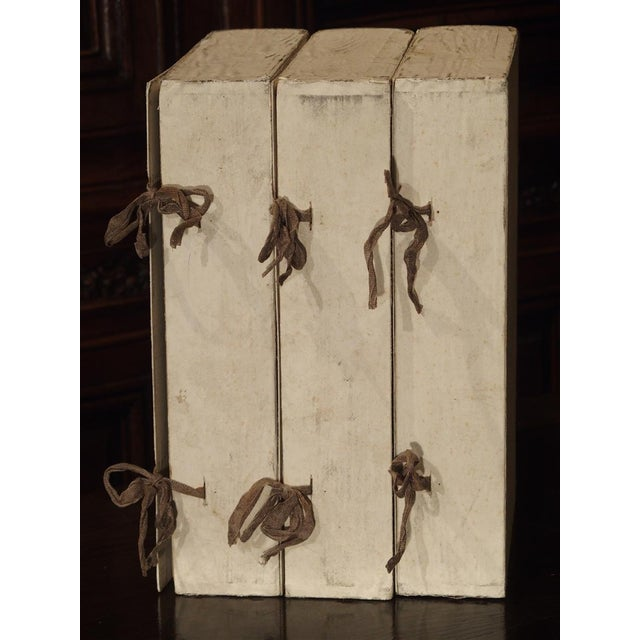 Early 20th Century Decorative Set of 3 Antique Faux Book Document Holders From Italy, C.1915 For Sale - Image 5 of 12