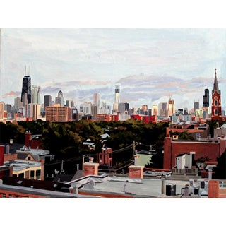 Contemporary Giclee Print - Chicago From Old Town
