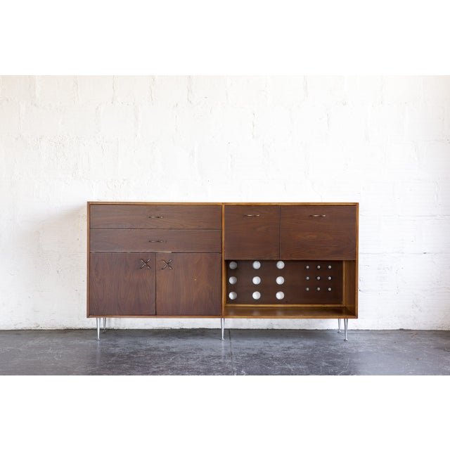 Brown 1970s Mid-Century Modern George Nelson for Herman Miller Credenza For Sale - Image 8 of 13