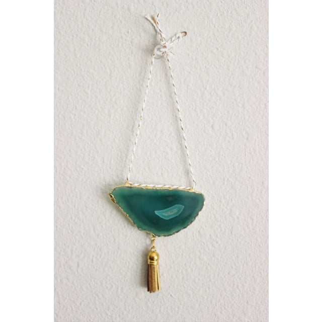 Modern Boho Green/Emerald Agate Holiday Ornament - Image 3 of 6