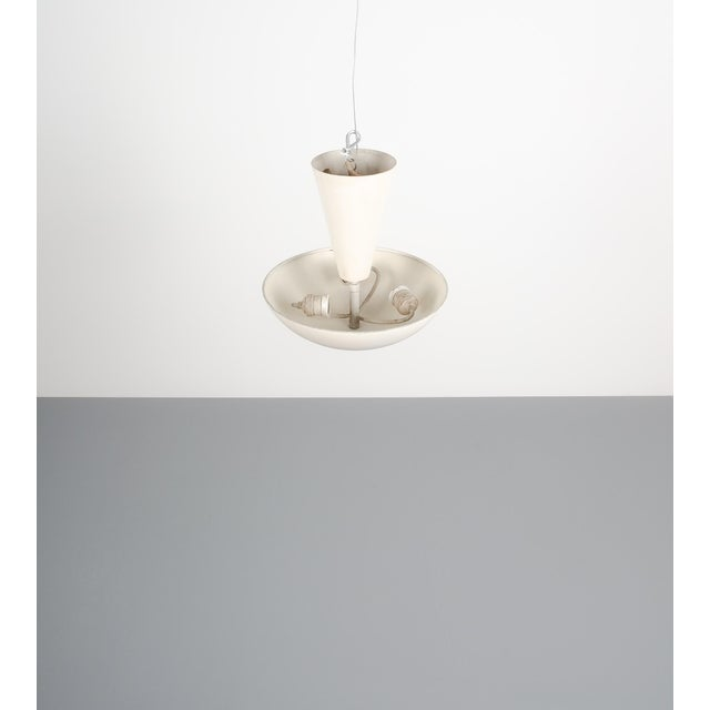 Gold Pair Gino Sarfatti Arteluce 3003 Ceiling Lamp or Semi Flush Mount, Italy, 1950 For Sale - Image 8 of 13