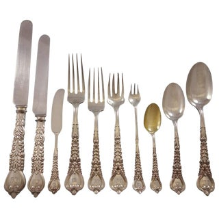 Florentine by Tiffany and Co. Sterling Silver Flatware Set Service 240 Pieces For Sale