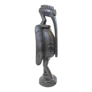 Vintage Mid-Century Senufo Hornbill Sculpture For Sale