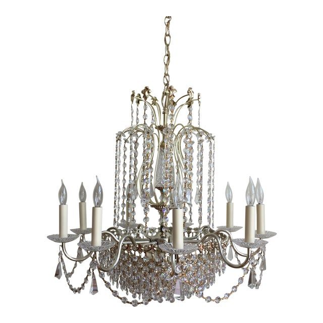 Schonbek Swarovski Strass Crystal Chandelier For Sale